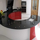 Granite Kitchen Red and Black
